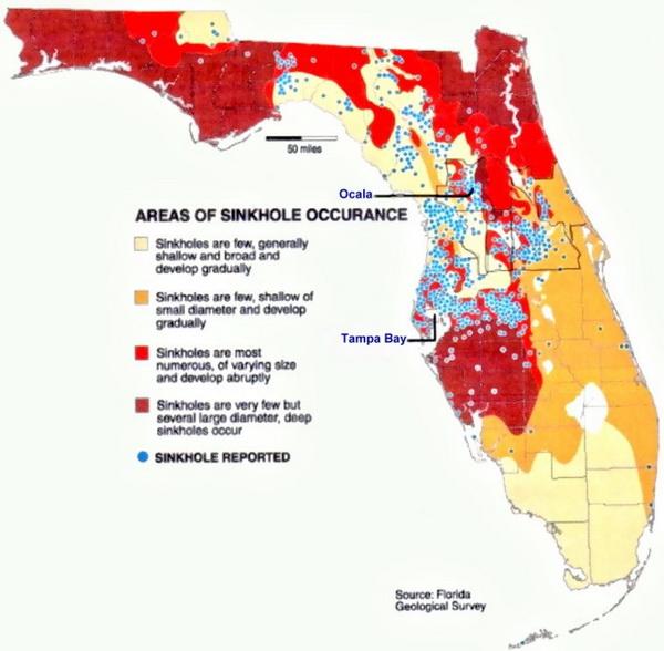 Flood Zone Map Florida.Map Florida Sinkholes Bnhspine Com